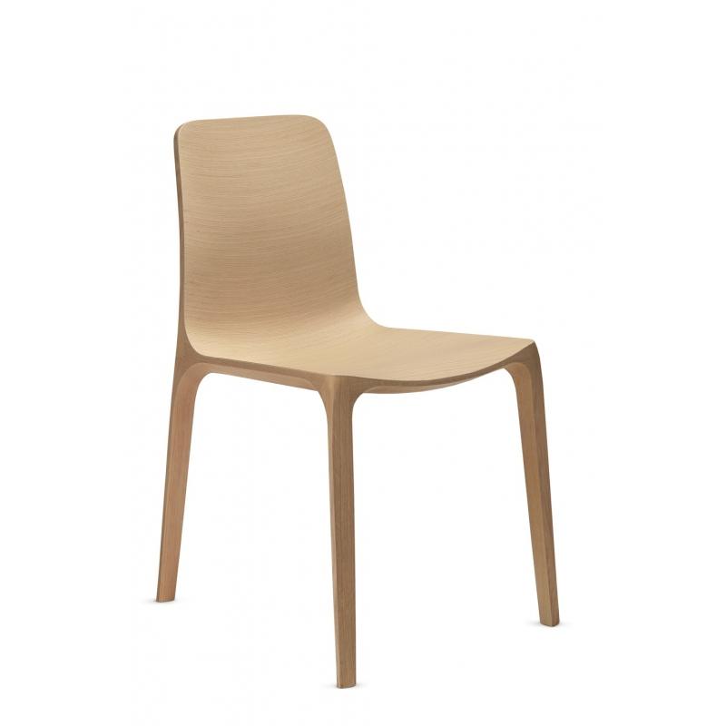 Frida 752 pedrali chaise 4 pieds ch ne blanchi for Chaise pedrali