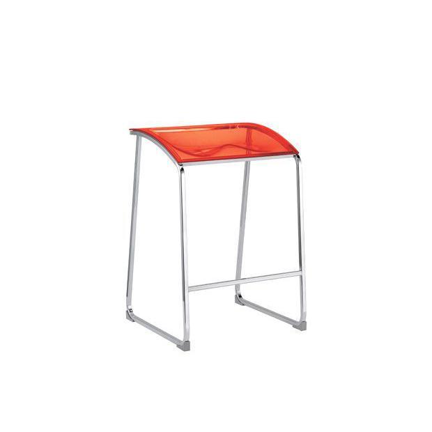 Arod 500 Pedrali Tabouret - Rouge Transparent
