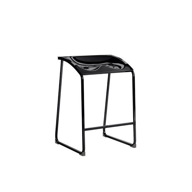 Arod 500 Pedrali Tabouret Structure Noire - Assise Noire