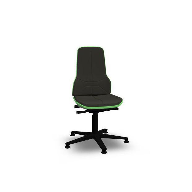 Neon 1 Bimos Contact Permanent sur patins - Mousse Intégrale Noire - Bordure Verte