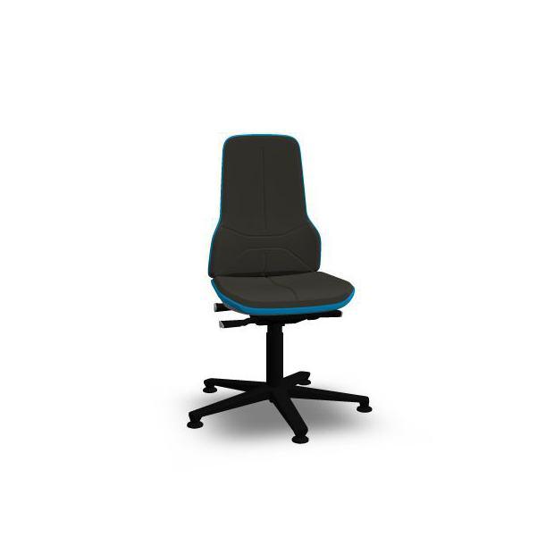 Neon 1 Bimos Contact Permanent sur patins - Mousse Intégrale Noire - Bordure Bleue