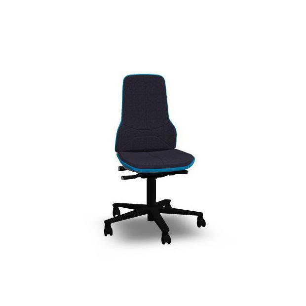 Neon 2 Bimos Contact Permanent sur roulettes - Tissu Duotec Noir - Bordure Bleue