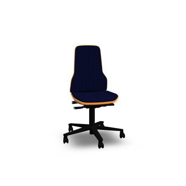Neon 2 Bimos Contact Permanent sur roulettes - Tissu Duotec Bleu - Bordure Orange