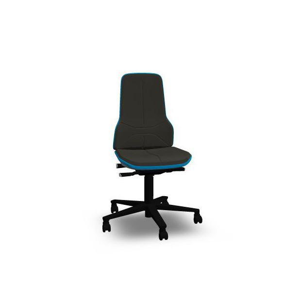 Neon 2 Bimos Contact Permanent sur roulettes - Mousse Intégrale Noire - Bordure Bleue