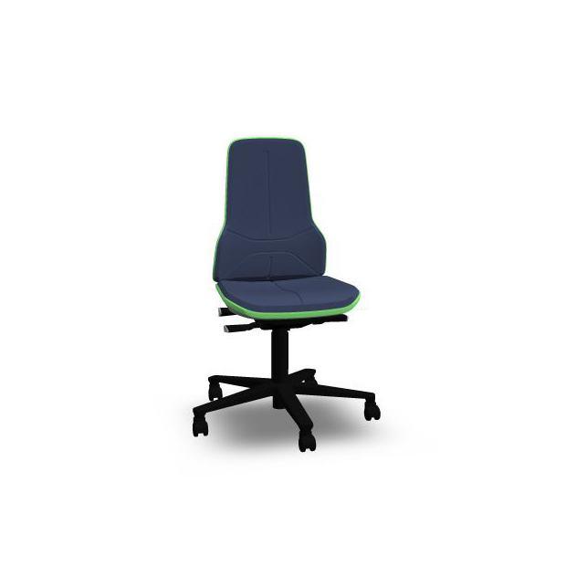 Neon 2 Bimos Contact Permanent sur roulettes - Mousse Intégrale Bleue - Bordure Verte