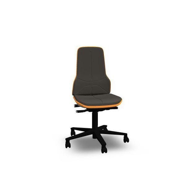 Neon 2 Bimos Contact Permanent sur roulettes - Supertec Noir - Bordure Orange