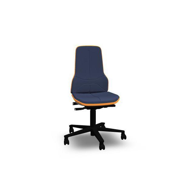Neon 2 Bimos Synchrone sur roulettes - Mousse Intégrale Bleue - Bordure Orange