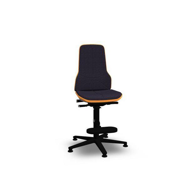 Neon 3 Bimos Contact Permanent sur patins et avec marchepieds - Tissu Duotec Noir - Bordure Orange