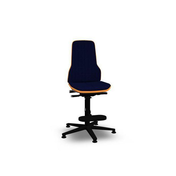 Neon 3 Bimos Contact Permanent sur patins et avec marchepieds - Tissu Duotec Bleu - Bordure Orange