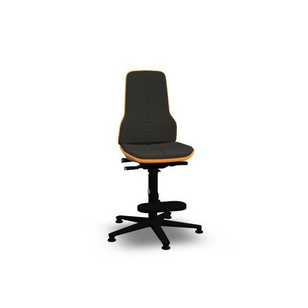 Neon 3 Bimos Contact Permanent sur patins et avec marchepieds - Mousse Intégrale Noire - Bordure Orange