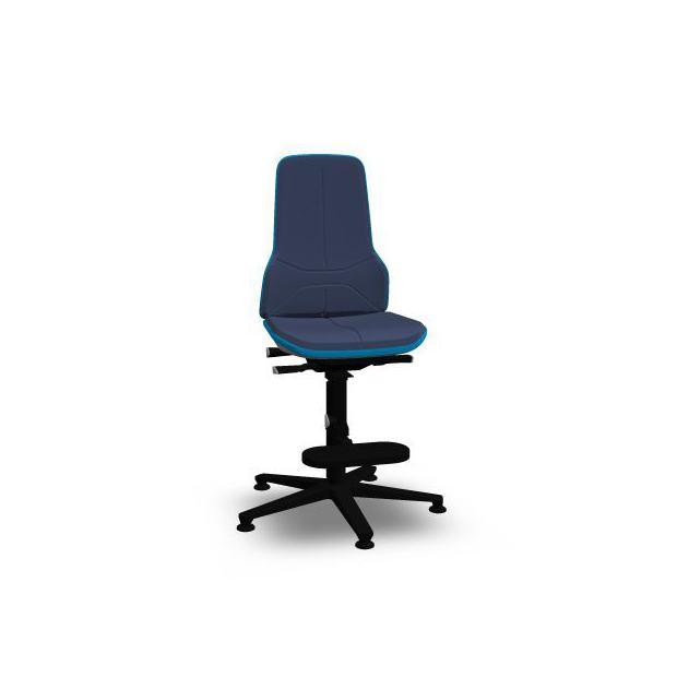 Neon 3 Bimos Contact Permanent sur patins et avec marchepieds - Mousse Intégrale Bleue - Bordure Bleue