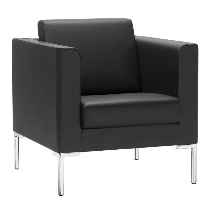 canap sitland fauteuil 1 place cuir noir. Black Bedroom Furniture Sets. Home Design Ideas