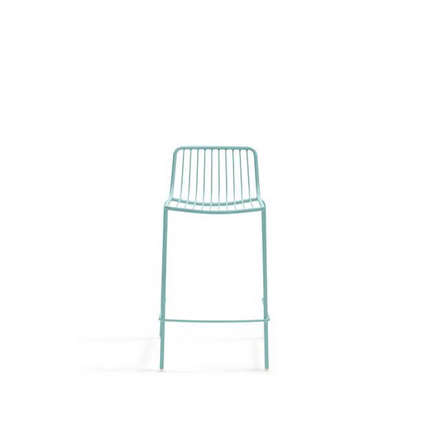 Nolita 3657 Pedrali tabouret 4 pieds Dossier Bas - Bleu