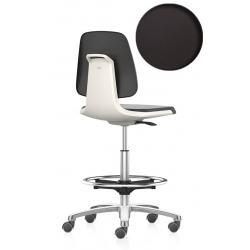 LABSIT 9125 sur roulettes avec repose-pieds - Cuir synthétique Magic - Blanc