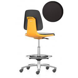 LABSIT 9125 sur roulettes avec repose-pieds - Cuir synthétique Magic - Orange