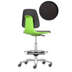 LABSIT 9125 sur roulettes avec repose-pieds - Cuir synthétique Magic - Vert