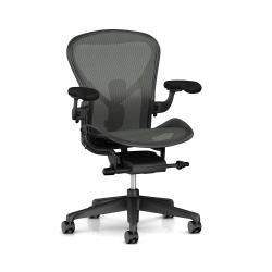 Fauteuil Aeron 2 Remastered - Herman Miller Graphite / Graphite / Dual Posture Fit / Graphite