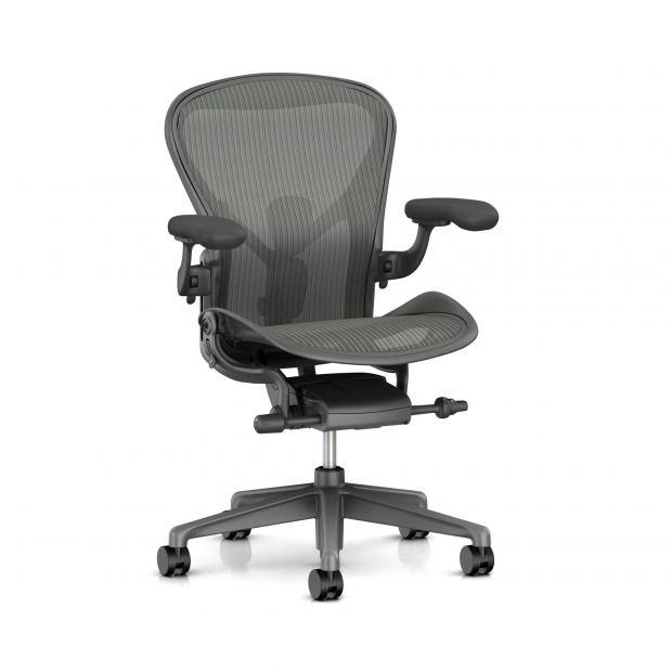 Fauteuil Aeron - Herman Miller Carbon / Satin Carbon / Dual Posture Fit