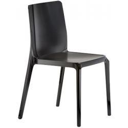 BLITZ 640 Pedrali Chaise 4 pieds Noire