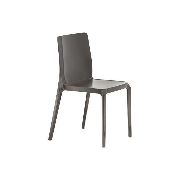 BLITZ 640 Pedrali Chaise 4 pieds Grise