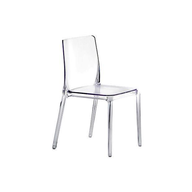 BLITZ 640 Pedrali Chaise 4 pieds Transparente