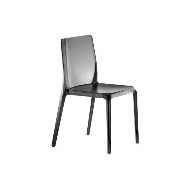 BLITZ 640 Pedrali Chaise 4 pieds Fumé Transparent