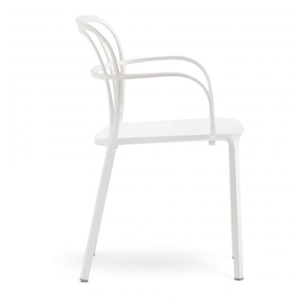 Intrigo 3715 Pedrali chaise 4 pieds - Blanc