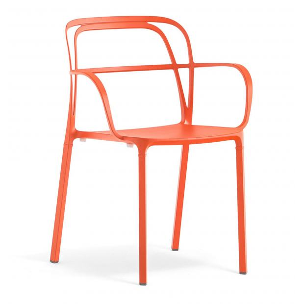 Intrigo 3715 Pedrali chaise 4 pieds - Orange