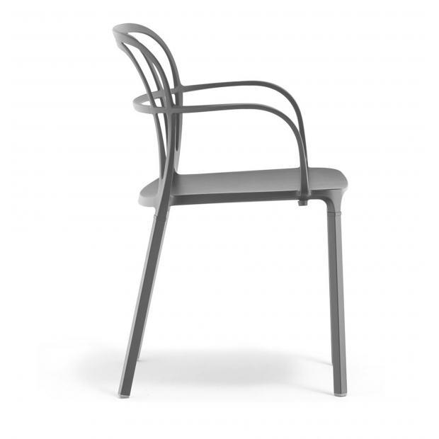 Intrigo 3715 Pedrali chaise 4 pieds - Gris Anthracite