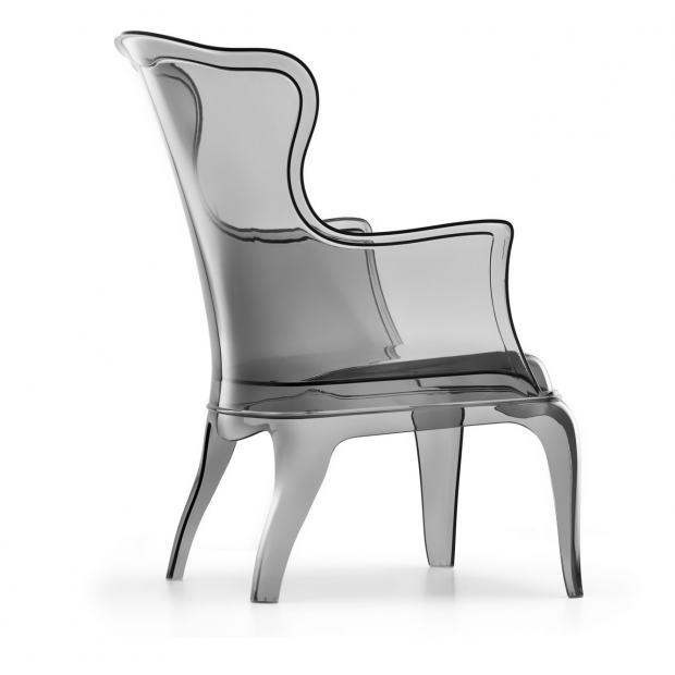 Pasha 660 Pedrali fauteuil - fumé transparent