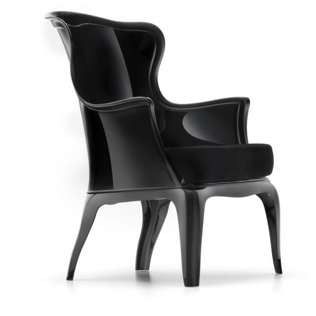 Pasha 660 Pedrali fauteuil avec coussin - noir