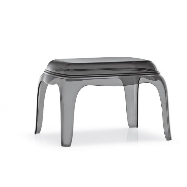 Pasha 661 Pedrali table-basse lounge - assise fumé transparent