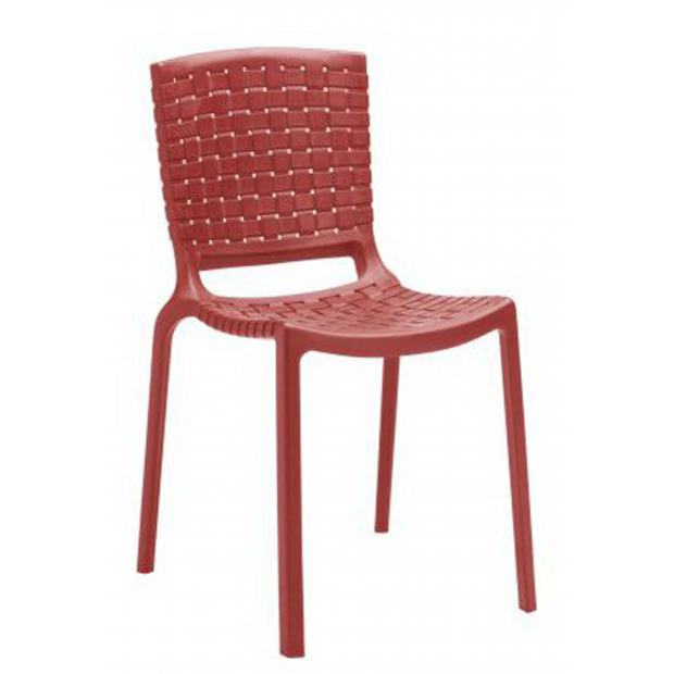 TATAMI 305 Pedrali chaise 4 pieds rouge