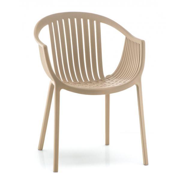 TATAMI 306 Pedrali fauteuil 4 pieds sable