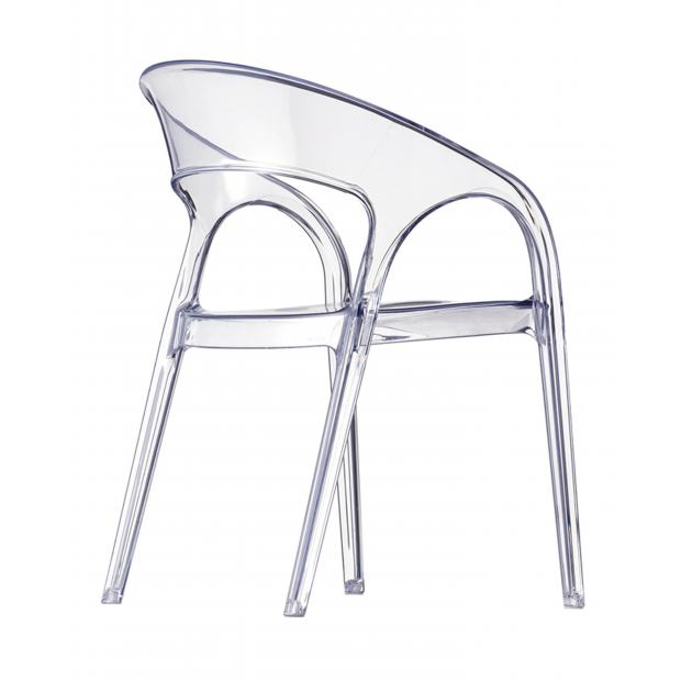 Gossip 620 Pedrali chaise 4 pieds transparent