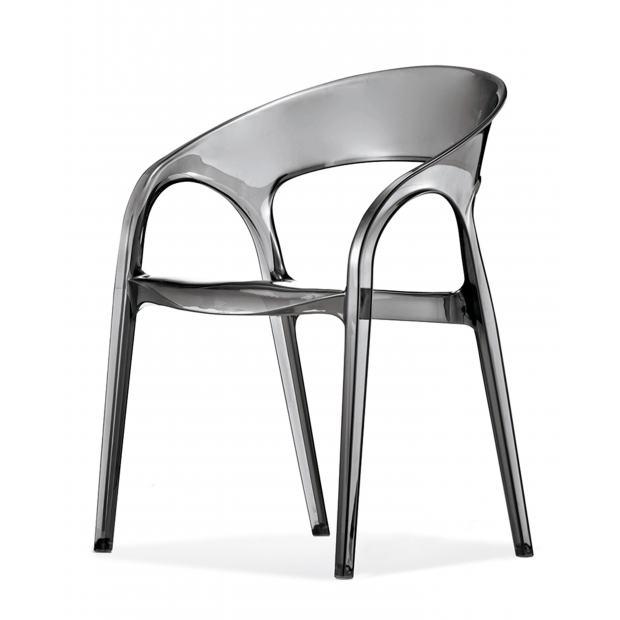 Gossip 620 Pedrali chaise 4 pieds fumé transparente