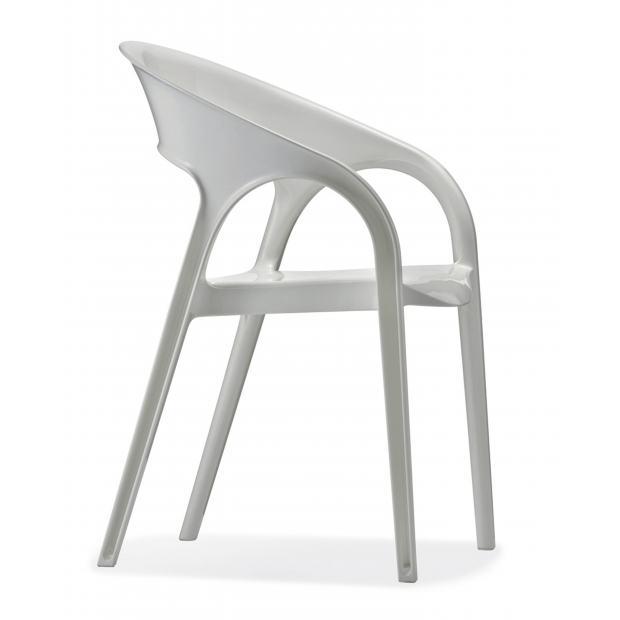 Gossip 620 Pedrali chaise 4 pieds blanche