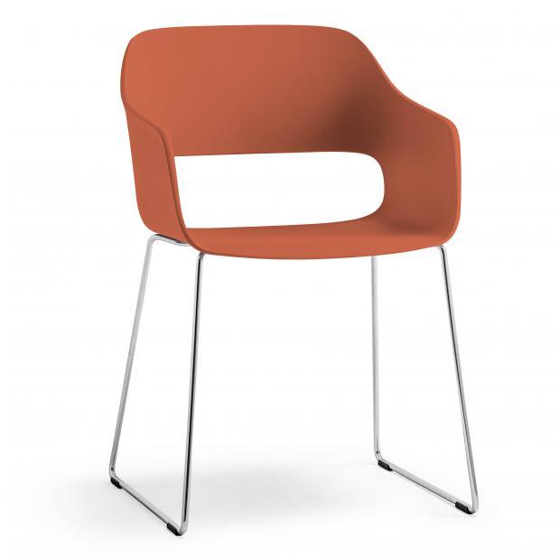 Babila 2745 Pedrali - Chaise structure luge / Coque polypropylène