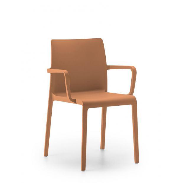 Volt 674 Pedrali - Chaise 4 pieds avec accoudoirs