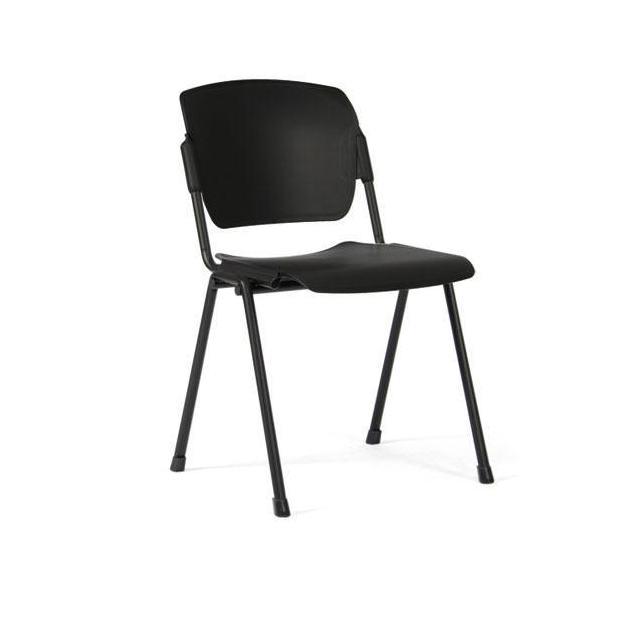 Chaise 4 pieds Multipla - Revêtement polyuréthane - Structure en Acier noir