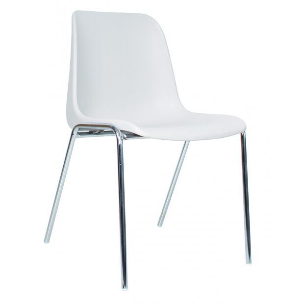 Chaise 4 pieds - Coque polypropylène - pieds chromés