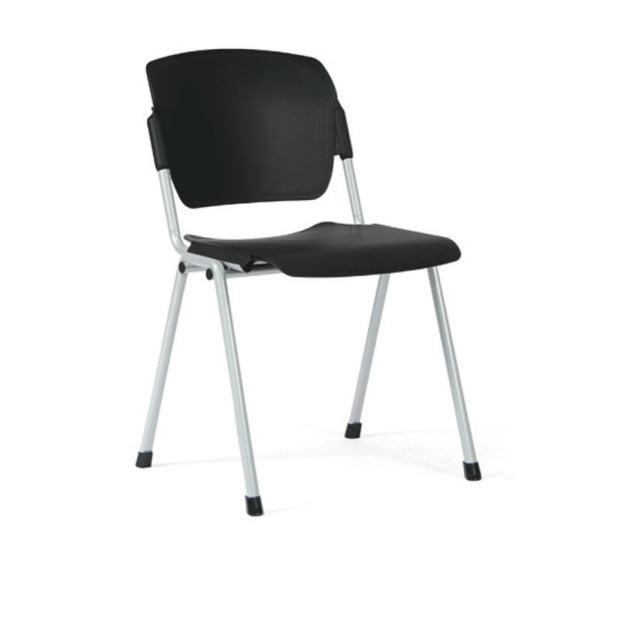 Chaise 4 pieds Multipla - Assise Dossier polyuréthane - Structure Epoxy Alu