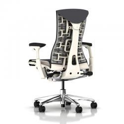Fauteuil de bureau Embody - Blanc / Aluminium-poli - Herman Miller