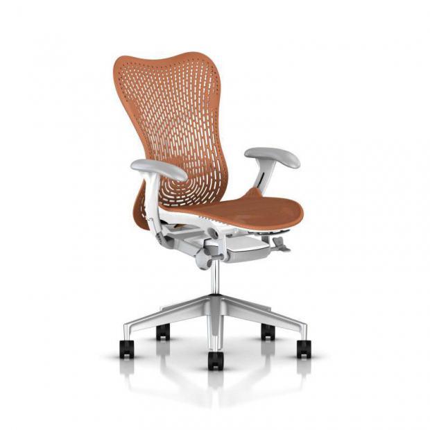 Fauteuil Mirra 2 Triflex - Herman Miller - Piètement H-Alloy - Structure Studio White