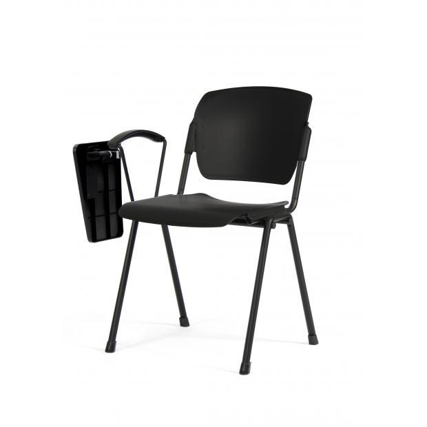 Chaise 4 pieds Multipla avec tablette écritoire