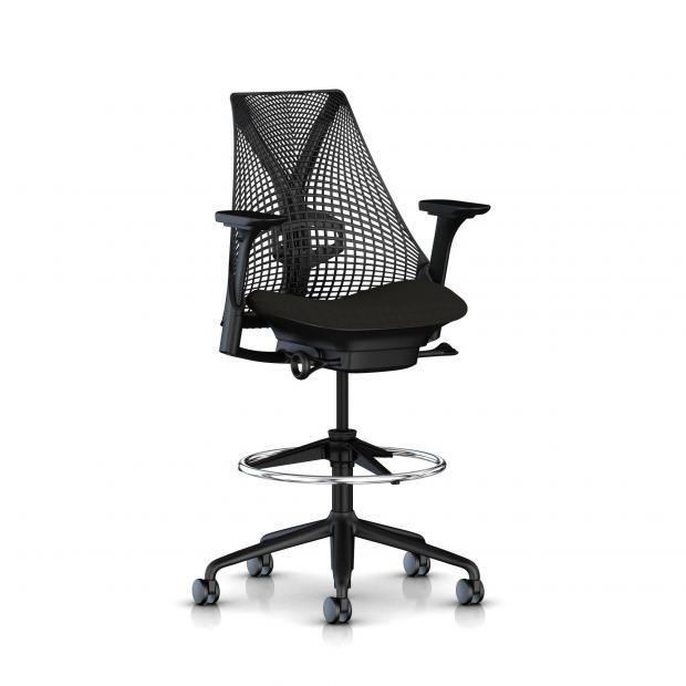 Sayl stool - Structure noire