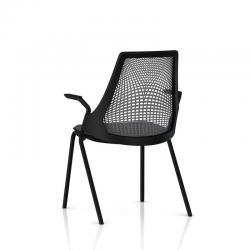 Chaise visiteur Sayl - 4 pieds - Structure noire
