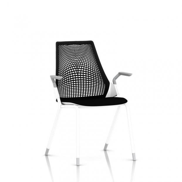 Chaise visiteur Sayl - 4 pieds - Structure blanche