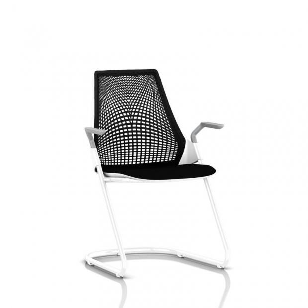 Chaise visiteur Sayl - Luge - Structure blanche