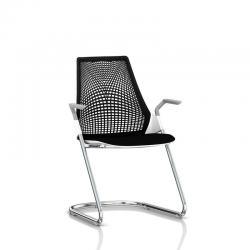 Chaise visiteur Sayl - Luge - Structure chromée